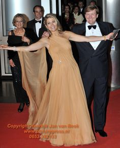 King Willem Alexander and Queen Maxima of the Netherlands in Jan Taminiau dress