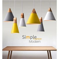 Cheap colorful pendant lamp, Buy Quality pendant lamp directly from China modern pendant light Suppliers: Modern Pendant Lights Real Wooden+Aluminum Colorful Pendant Lamps For Restaurant coffee Bar Home Decoration luminaire lamparas Ceiling Hanging, Hanging Light Fixtures, Hanging Lights, Ceiling Lights, Room Lights, Ceiling Lamp, Cheap Pendant Lights, Pendant Lighting, Pendant Lamps