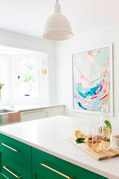 A kitchen for cooking! http://www.stylemepretty.com/living/2015/05/11/fresh-summer-champagne-cocktail/ | Photography: Alyssa Rosenheck - http://alyssarosenheck.com/