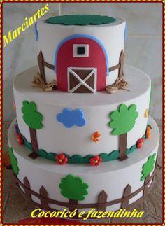 bolo fake fazendinha E. Bolo Fack, Fake Cake, Birthday Cake, Desserts, Food, Baby, Conch Fritters, Sweets, Pom Poms