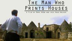 De man die een huis kan printen