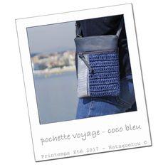 Pochette voyage - bleu coco