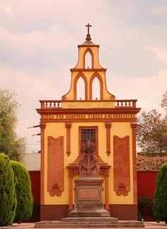 Chapel in the Queretanos Ilustres Cemetery, Queretaro Mexico