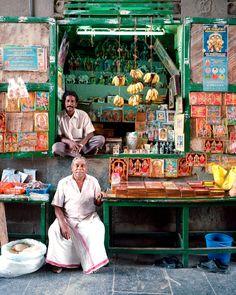 Street vendors in Chennai, India.