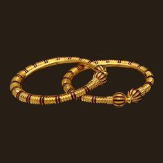 Gold Enamel Bangles (107A29206)   Vummidi Bangaru Jewellers