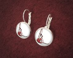 Handmade Silver Bagpipes Earrings Bagpiper by CeruleanEarth, $19.00