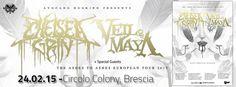 News di Spaghetti italiani - CHELSEA GRIN + VEIL OF MAYA + SPECIAL GUEST IL 24/02/2015 A BRESCIA