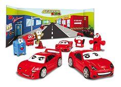 Bburago Ferrari Kids Triple Pack Playset (Style of Car May Vary)