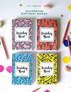 Accordion Birthday Books DIY + Template | Oh Happy Day!