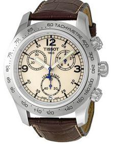 Tissot T-Sport Men's Chronograph Brown Leather Quartz Watch Watches For Men Unique, Affordable Watches, Rolex Watches For Men, Breitling Watches, Luxury Watches For Men, Cool Watches, Wrist Watches, Men's Watches, Tissot Mens Watch
