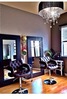 My dream home salon. Perfect for limited space.