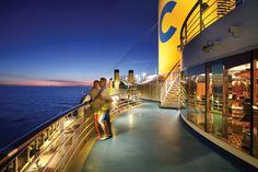Atardecer en la cubierta, Costa Mediterranea (afuera del Club Restaurant Medusa!...grandes recuerdos)