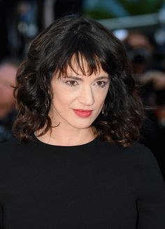 """Asia Argento attends the Closing Ceremony & screening of """"The Man Who Killed Don Quixote"""" during the annual Cannes Film Festival at Palais des Festivals on May 2018 in Cannes, France. Haircuts For Medium Hair, Medium Long Hair, Medium Hair Cuts, Medium Hair Styles, Stylish Haircuts, Modern Haircuts, Elegant Hairstyles, Cool Hairstyles, Graduated Haircut"""