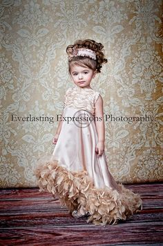 ♥ Angelic Elegance ... A Taffeta, Satin, And Feather Daygown - Love Baby J Boutique - Welcome to Love Baby J Couture - Boutique Clothing For Girls
