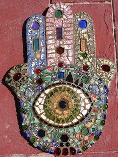 """Large Mosaic Wall Art """"HAMSA"""""""
