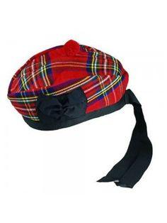 23091749c54 Royal Stewart Glengarry with Red Pompom Wool Scottish Kilt Hat Highland  Wear - Scottish Hats