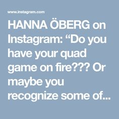 """HANNA ÖBERG on Instagram: """"Do you have your quad game on fire??? Or maybe you recognize some of these common mistakes in the gym when training quads? ⚠️⚠️PERSONAL TIPS;…"""" • Instagram"""