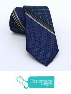 "Dark blue and green striped, plaid men's tie 5,5 cm (2,17"") SL-020 from Nazo Design https://www.amazon.com/dp/B01FOL2BYW/ref=hnd_sw_r_pi_dp_eNO5xbHANFH5N #handmadeatamazon #nazodesign"