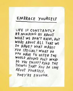embrace yourself.