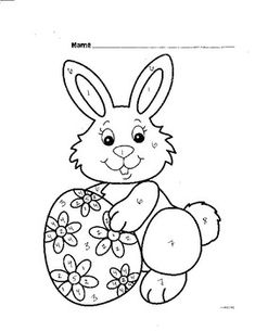 Top 15 Free Printable Easter Bunny Coloring Pages Online | Coloring ...