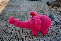 Adorable Knitted Elephant - Get the Pattern FREE!