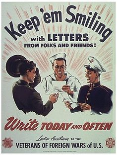 It may be from World War 2, but it's still relevant.  SUPPORT OUR TROOPS!