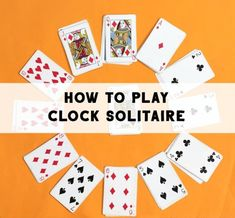 How to play solitaire card game known as clock solitaire, or clock patience. Fun game to keep kids busy. How to play solitaire card game known as clock solitaire, or clock patience. Fun game to keep kids busy. Two Person Card Games, Single Player Card Games, Card Games For One, Gift Card Games, Math Card Games, Family Card Games, Playing Card Games, Dice Games, Games With Cards
