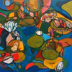 Ignacio Klindworth. Lo emergente. Serie orgánicas. Óleo sobre tela. 90x90cm. Madrid 2006. www.ignacioklindworth.es