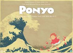 THIS IS SO CHEESY but I want to win that DVD, ponyo is my JAMMmm man... So I figured, when people see Hokusai's Wave they think of a Japanese masterpiece, which is also the animation of Ghibli? Doe...