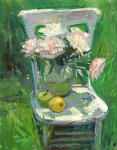 First Bloom - Summer Peonies by Don Sahli was selected as a Finalist in the February 2012 BoldBrush Painting Competition. Painting Still Life, Still Life Art, Art Floral, Painting Competition, Ecole Art, Impressionist Art, Art Plastique, Beautiful Artwork, Flower Art