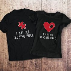 Couple set t-shirt I Am His/Her Misssing by SayYouLoveMeGifts