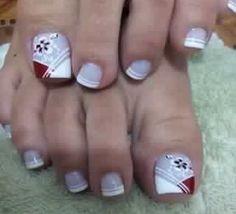 Uñas para mi Pedicure Designs, Pedicure Nail Art, Toe Nail Designs, Toe Nail Art, Toe Nails, Acrylic Nails, Floral Nail Art, Art Model, Hair Beauty