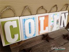 Owl theme Personalized Wood Letters  Name Blocks by GalleryEleven, $50.00