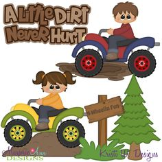 A Little Dirt Never Hurt SVG-MTC-PNG plus JPG Cut Out Sheet(s) Our sets also include clipart in these formats: PNG & JPG