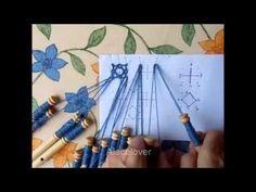 Encaje de Bolillos. Cómo unir trenzas con hilo mágico - YouTube