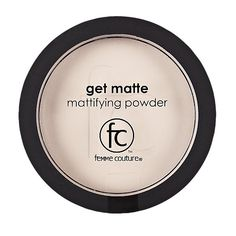 Femme Couture Matte Mattifying Powder quickly eliminates shine.