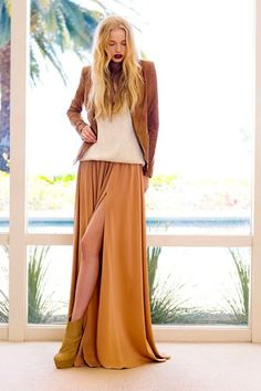 """Rachel Zoe Gives Us Her Styling Tips, Talks Jewelry Line And Overpacking #refinery29  http://www.refinery29.com/rachel-zoe-resort-2012-interview#slide-6   What's your favorite piece in the collection (pick just one)? And why?  """"I could never pick! But if I had to I seem to wear the white maxi skirt the most. Maybe because it is one of the most versatile — I wear it during the day with an LNA tank and Rick Owens leather jacket, or a great Philip Lim knit. But it's equally as amazing for night…"""