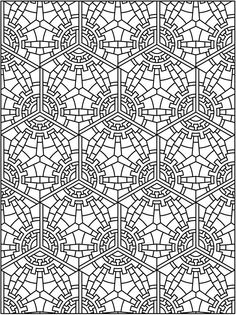 Creative Haven Tessellation Patterns Coloring Book Dover Publications