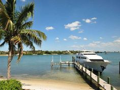 Want deep water dock and quick ocean access? Overlooking Jupiter Island... Available for $3,000,000
