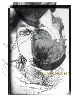 givenchy fall/winter 2013 men's show invitation designed by M/M (Paris)