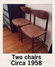 Peter Hvidt John Stuart Mid Century Danish Modern Teak Chairs 2