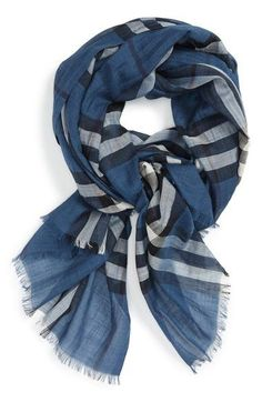 Burberry Giant Icon Check Cashmere Scarf | Products | Pinterest