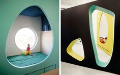 the architecture of early childhood: A fun and playful design for a kindergarten in Tromso, Norway which utilises flexible 'playing walls' Kindergarten Pictures, Kindergarten Design, Tromso, Norway Design, Creative Architecture, Interior Architecture, Small Space Interior Design, School Furniture, Furniture Online
