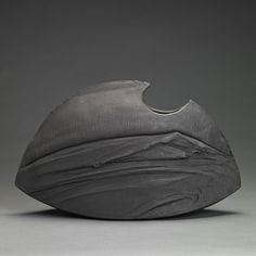 Matthew Allison: Black Ikebana Vessel Handbuilt 2012