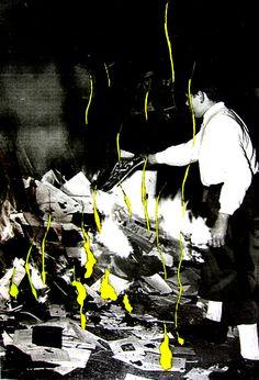 #Pyrografie #portrait #neonart #neon #pyrography #pyrographyart #Bücherverbrennung