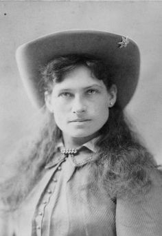 Annie Oakley, shown in this cabinet card, was born in Darke County, Ohio in 1860. Her full name was Phoebe Anne Oakley Mozee.