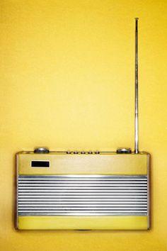 Retro Yellow Radio