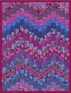 "Twilight Garden Bargello Quilt, 47 x 82"", free pattern by Sally Ablett at Fabric Freedom"