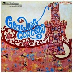 Classic rock concert psychedelic poster - Growing Concern - self-titled LP (1968)