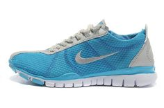 reputable site 94272 9217f Nike Free TR Twist Womens Light Grey Blue Running Trainers 443609 726 Blue  Trainers, Blue